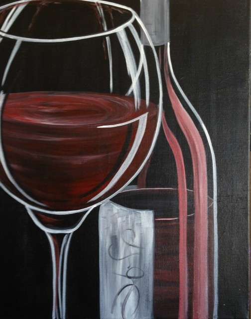 Red Wine at Painted. Studios