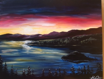 NEW Painting! Sunset Over Tahoe