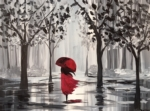 A Walk in the rain.  Customize with colors or black and white!