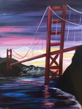 NEW Painting! Golden Gate Sunset