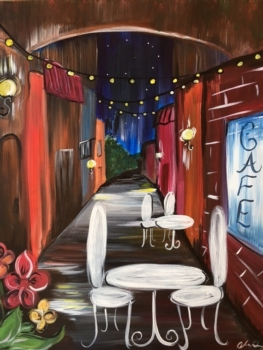New  Painting. The Cafe!