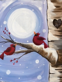 Winter Cardinals. New Painting!
