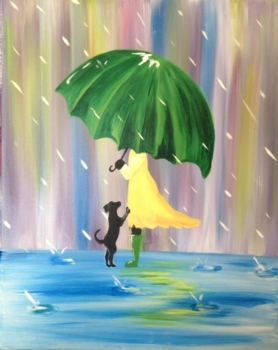 Little Green Umbrella. Complimentary mimosa*