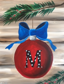 Monogram Ornament. New Painting! *See Event Details