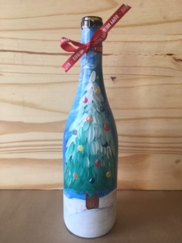 Wine Bottle Painting. Ages 21+. Includes a full bottle of local wine! *See Event Details