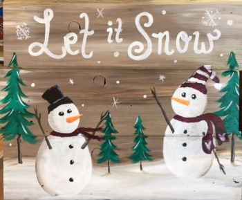 Let It Snow. Slat Wood Class!*