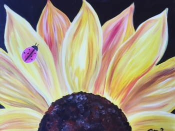 Sunflower.  Bring someone you love to paint the other half!*