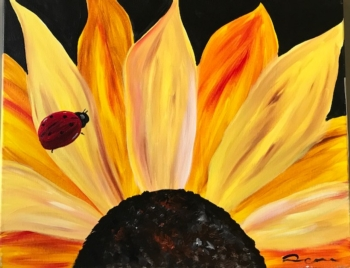 Sunflower. Mommy and Me class, or bring someone special!