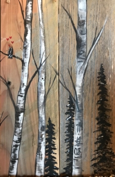 Birch Trees Rustic Wood Class.*  See event description