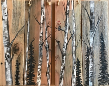 Birches Rustic Wood Class